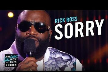 "Rick Ross Performs ""Sorry"" On The Late Late Show"