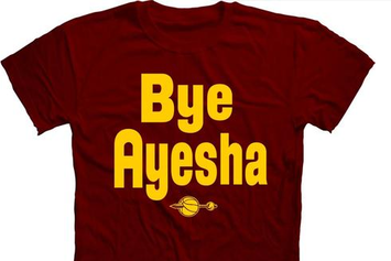 """Cavaliers Fans Are Going Crazy For These """"Bye Ayesha"""" Shirts"""