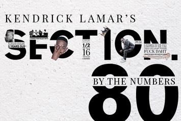"By The Numbers: Kendrick Lamar's ""Section.80"" 5 Years Later"
