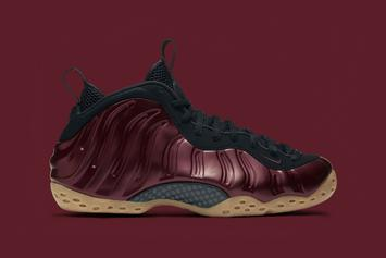 "Release Reminder: ""Night Maroon"" Nike Air Foamposite One Releases Tomorrow"