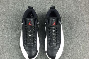 """Detailed Look At The New """"Playoffs"""" Air Jordan 12 Low"""