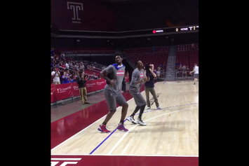 Joel Embiid Crushes The TZ Anthem Challenge During Warmups