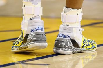 Stephen Curry Auctioning Custom Sneakers To Support The Oakland Fire Relief Efforts