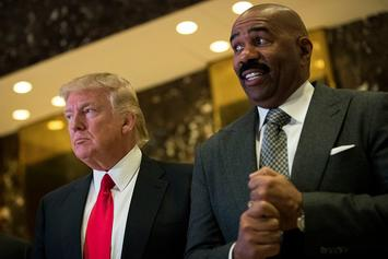 "Steve Harvey Says Snoop Dogg Should ""Respect The Office"" Of President Trump"