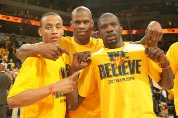 "Golden State Warriors Honoring 2007 ""We Believe"" Team Prior To Game 1 Vs. Utah"
