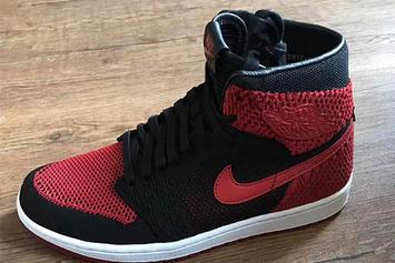"""Flyknit"" Air Jordan 1s Revealed In The Always Popular ""Bred"" Colorway"