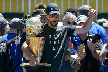 Steph Curry Debuted New Under Armour Curry 4 At Warriors Parade