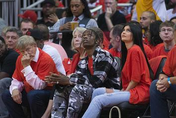 Travis Scott Shows Off His Jumper At Houston Rockets Practice