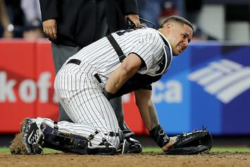 Yankees Catcher Gary Sanchez Takes Foul Tip To The Groin: Twitter Reacts