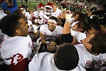 "OU's Baker Mayfield Makes Lewd Gesture, Says ""F**k You"" To Opponents"