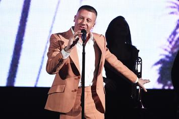 "Watch Macklemore Perform ""Glorious"" With Skylar Grey at American Music Awards"