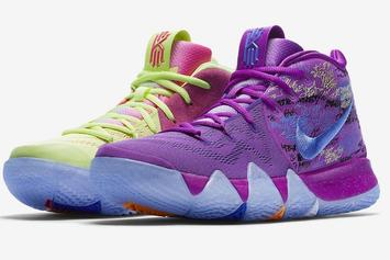 "Nike Kyrie 4 To Debut In ""Confetti"" Colorway This Weekend"