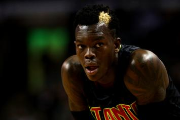 Dennis Schroder Gives Quavo His Jersey Following Atlanta Hawks Victory