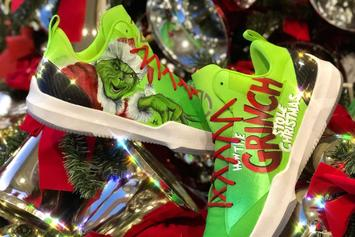 Lonzo Ball Debuts Grinch Themed Big Baller Brand Sneakers