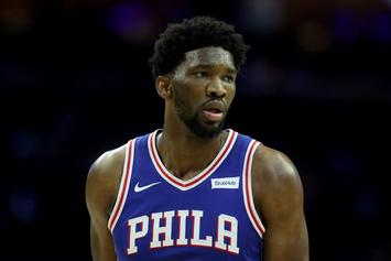 Joel Embiid Shoves Rowdy Fan To The Ground At Eagles Tailgate