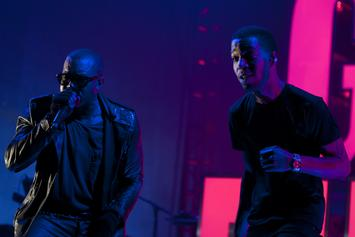 The yeezus blessing a history of kanye wests co signs kanye west kid cudi perform together during adidas nba all star weekend event malvernweather Image collections