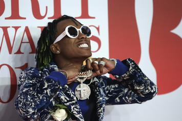 "Rich The Kid Smashes A Lamborghini Performing ""New Freezer"" With Kendrick Lamar"
