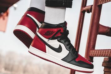 """""""Bred Toe"""" Air Jordan 1 Releases Tomorrow: Official Images"""