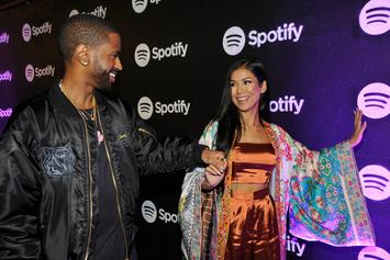 Jhené Aiko & Big Sean All Smiles At Aiko's 30th Birthday