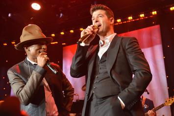 "Pharrell & Robin Thicke's ""Blurred Lines"" Copyright Case In Favour Of Marvin Gaye"