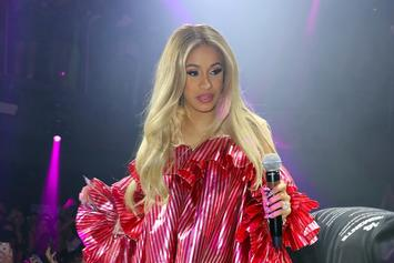 Cardi B Fuels Pregnancy Rumors After Wearing Oversized Dress To Club