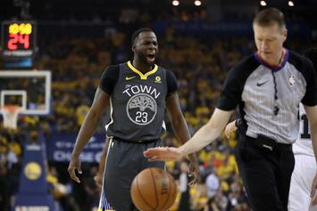 Warriors' Draymond Green Reacts To Receiving Flagrant Foul In Game 2