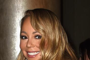Santa Claus Gets Thirsty Near Mariah Carey's Cleavage