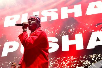 "Pusha T Fires Shot At Drake On ""Daytona""; Previews Album At Listening Party"