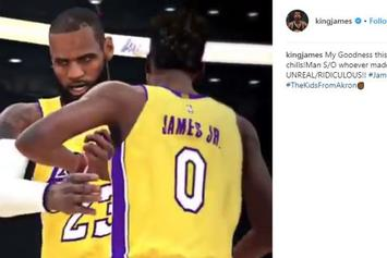 NBA 2K Mixtape Imagines LeBron James Teaming With Son On Lakers