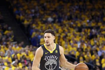 """Klay Thompson Already Has """"Back To Back"""" Championship Sneakers"""