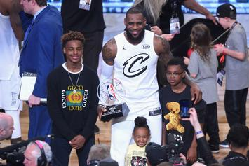 13-Year Old LeBron James Jr. Throws Down His First Dunk