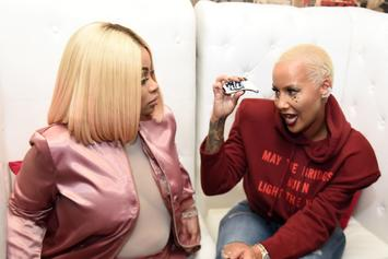 Amber Rose Trolls Best Bud Blac Chyna In New Purple Hair Photos