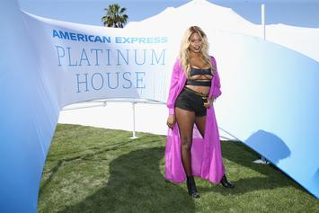 """Laverne Cox Bodies Ciara's """"Level Up"""" Dance In Sexy Two-Piece Suit & Pool Thirst Trap"""
