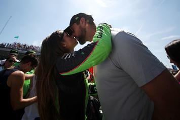 Danica Patrick Celebrates Aaron Rodgers' Contract With Ace Of Spades Champagne