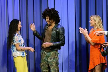 Zoe And Lenny Kravitz, Reese Witherspoon, & Jimmy Fallon Hold Epic Lip Sync Battle