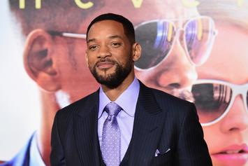 "Will Smith Shares First ""Aladdin"" Poster, Teases Role As Genie"