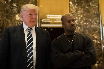 Kanye West Gets Front-Row For Trump's Bill Signing That Will Make Him Richer