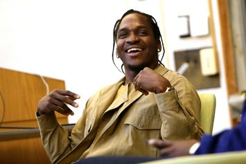 """Pusha T Laughs About Drake Saying """"Someone"""" Should Punch Him Over 40's MS Line"""