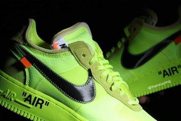 "Off-White x Nike Air Force 1 Low ""Volt"" Revealed In Detail"
