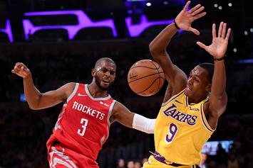 Rajon Rondo's Relative Lashes Out At Chris Paul's Wife After Rockets-Lakers Brawl