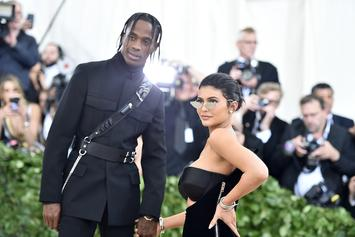 Travis Scott, Kylie Jenner & Baby Stormi Have Family Outing At Pumpkin Patch