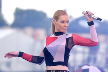 Iggy Azalea Wears Lace Bra & Panties While Eating Pizza