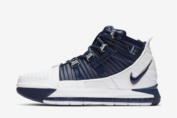 "Nike LeBron 3 Returning In ""White/Navy"" Colorway: Official Images"