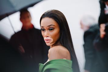 Wiz Khalifa's Girlfriend Winnie Harlow Rocks Lingerie In Outdoor NYC Photoshoot