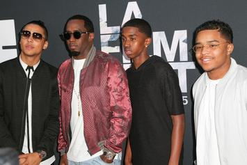 Diddy Has Father/Son Bonding At Strip Club With Justin & Quincy