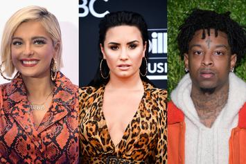 Bebe Rexha Claps Back At Critics Over Demi Lovato's 21 Savage Tweet Backlash