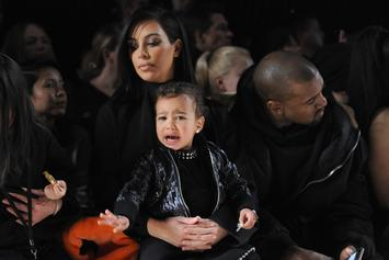 North West Took A 30-Minute Nap On Kanye West's Shoulders
