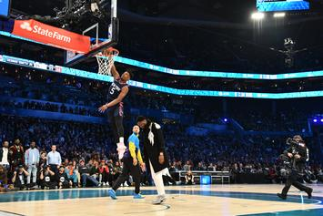 Dennis Smith Jr. Rocks J. Cole's High School Jersey During All-Star Dunk Contest