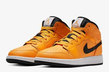 "Air Jordan 1 Mid Gets Dressed In ""Taxi Yellow"""