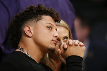 Patrick Mahomes Gets LeBron James Shoutout After Sitting Courtside At Lakers Game